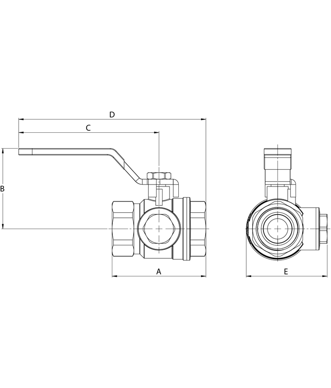 LK 522 - Female thread Measurement drawing (LKA)